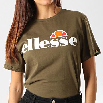 Ellesse - Tee Shirt Femme Albany SGS03237 Vert Kaki