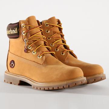 Boots Femme Premium 6 Inch Waterproof A25MK Wheat Nubuck