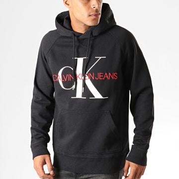Calvin Klein - Sweat Capuche Monogram 3219 Noir