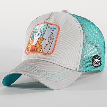 Casquette Trucker Bulma Turquoise Gris