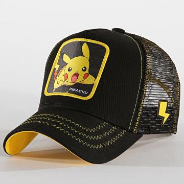 Casquette Trucker Pikachu Noir Jaune