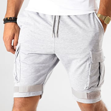 Short Jogging F547 Gris Chiné