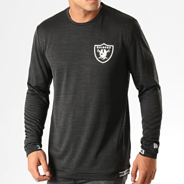 New Era - Tee Shirt Manches Longues NFL Engineered Oakland Raiders 12033387 Noir