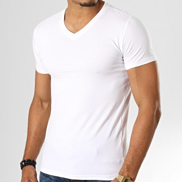 Teddy Smith - Tee Shirt Col V Tawax Blanc