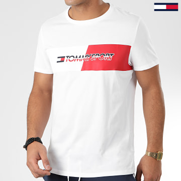 Tommy Sport - Tee Shirt Flag Graphic 0197 Blanc
