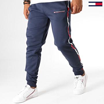 Pantalon Jogging A Bandes Fleece 0294 Bleu Marine Blanc Rouge