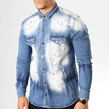 Uniplay - Chemise Jean Manches Longues 080 Bleu Wash