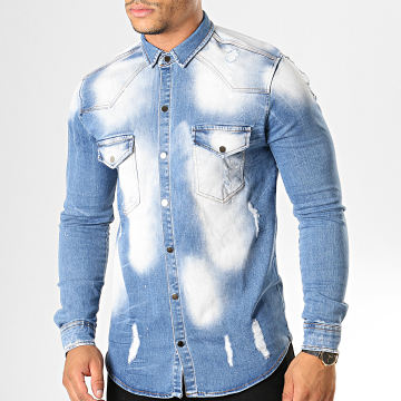 Uniplay - Chemise Jean Manches Longues 098 Bleu Wash