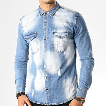 Uniplay - Chemise Jean Manches Longues 096 Bleu Wash