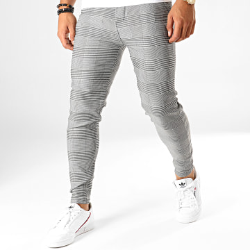 Pantalon Carreaux 1624 Blanc Noir