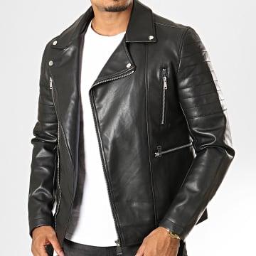 Veste Biker L621 Noir