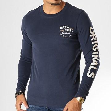 Tee Shirt Manches Longues Upton Bleu Marine