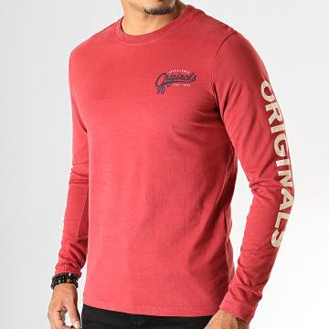 Tee Shirt Manches Longues Upton Rouge Brique