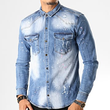 Uniplay - Chemise Jean Manches Longues 081 Bleu Wash