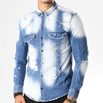Uniplay - Chemise Jean Manches Longues 094 Bleu Wash