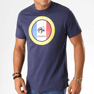 Tee Shirt Champions F19005 Bleu Marine Doré