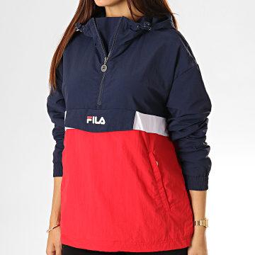 Fila - Coupe-Vent Femme Avec Capuche Pavlina 687275 Rouge Bleu Marine