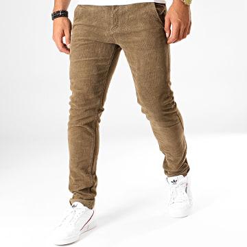 MTX - Pantalon Slim Velours YH1005 Marron