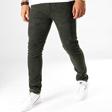 MTX - Pantalon Slim Velours YH1005 Vert Kaki