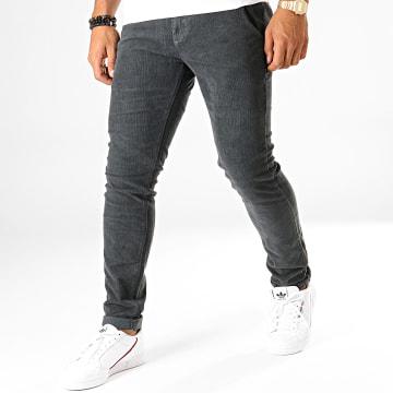 MTX - Pantalon Slim Velours YH1005 Gris Anthracite