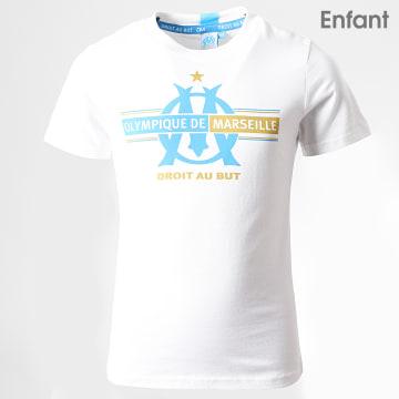 Tee Shirt Enfant OM Fan M19029C Blanc Doré