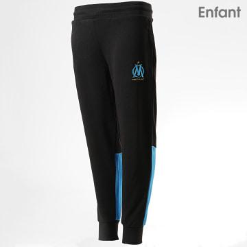 Pantalon Jogging Enfant OM Fan M19037 Noir Bleu Clair