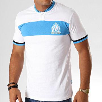 Polo Manches Courtes Fan M19008 Blanc Bleu Clair