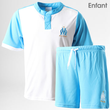 Ensemble Short Tee Shirt Enfant OM Minikit Fan M19033C Banc Bleu Clair