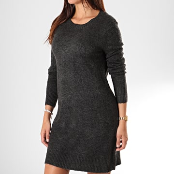 Robe Pull Femme Crea Treats Gris Anthracite Chiné