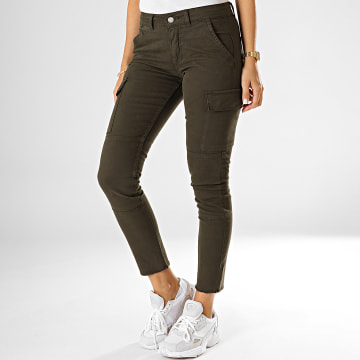 Pantalon Cargo Slim Femme Vargo Vert Kaki