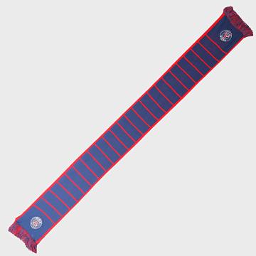 Echarpe Jaquard Badges Bleu Marine