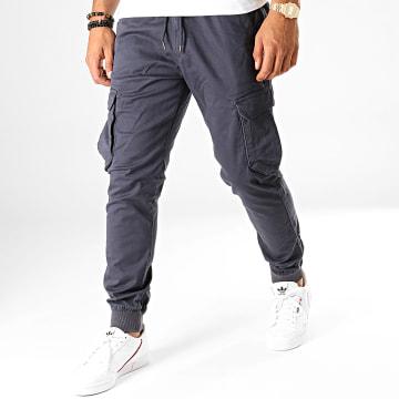 Reell Jeans - Jogger Pant Reflex Rib Cargo Bleu Marine