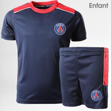 Ensemble Tee Shirt Short Enfant PSG Minikit P13103C Bleu Marine