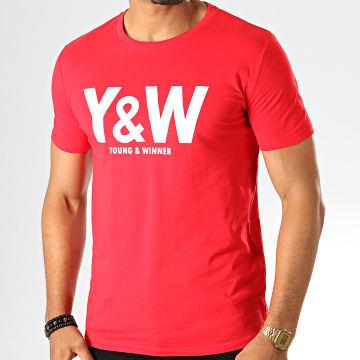 Y et W - Tee Shirt Logo Rouge Blanc