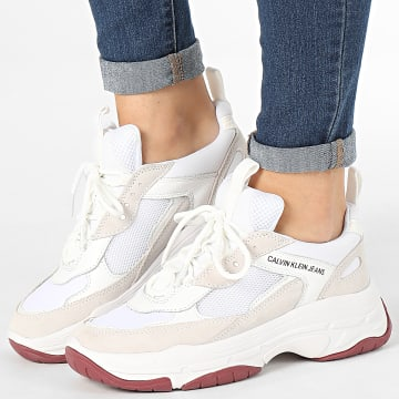 Baskets Femme Maya Low Top Lace Up Mesh R0802 White