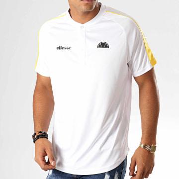 Polo Oversize Manches Courtes A Bandes Riccardo Blanc