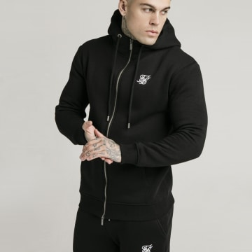SikSilk - Sweat Zippé Capuche 16070 Noir