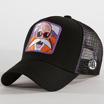 Capslab - Casquette Trucker Kame Noir Violet