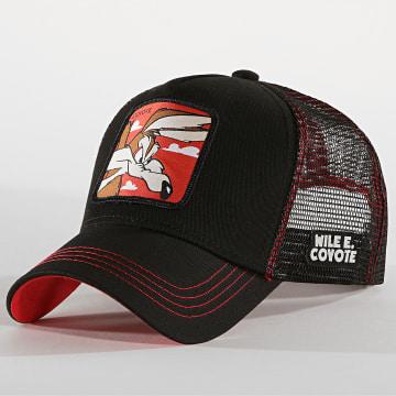 Capslab - Casquette Coyote Noir Rouge