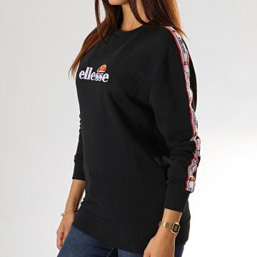 Ellesse - Sweat Crewneck Femme A Bandes Bodrum SGC07474 Noir
