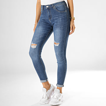 Jean Skinny Femme A1078 Bleu Denim