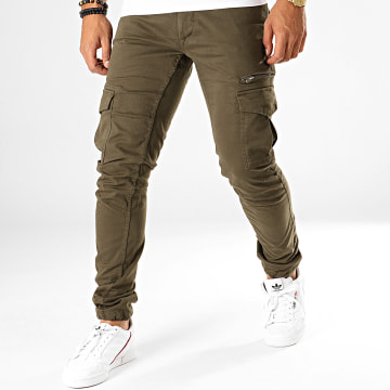 Pantalon Cargo Tonvui Mahevan Vert Kaki