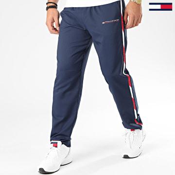 Pantalon Jogging A Bandes Woven 0209 Bleu Marine Blanc Rouge