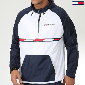 Tommy Sport - Coupe-Vent Woven With Tape 0234 Blanc Bleu Marine Rouge