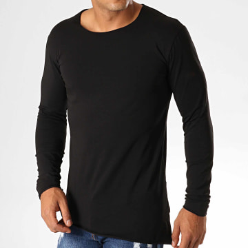 Ikao - Tee Shirt Oversize A Manches Longues F619 Noir