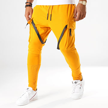 Ikao - Pantalon Jogging F664 Jaune Moutarde