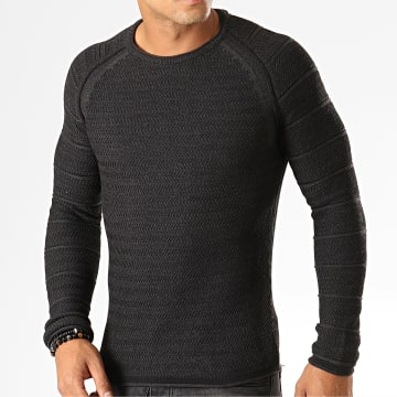 Pull F586 Gris Anthracite Chiné