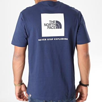 Tee Shirt Red Box 2TX2 Bleu Marine Blanc