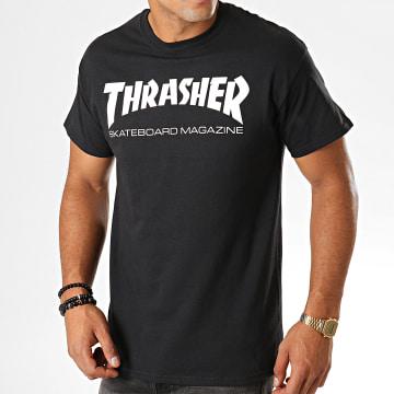 Thrasher - Tee Shirt Skate Mag Noir