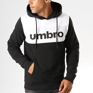 Umbro - Sweat Capuche 729850 Noir Blanc Gris Chiné